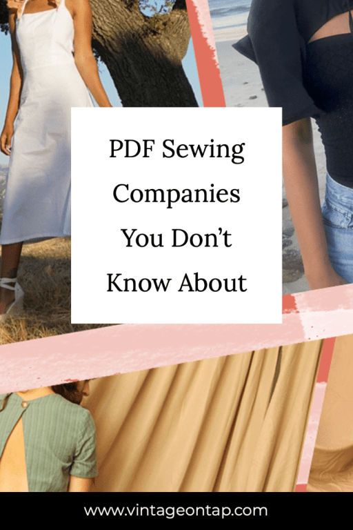 PDF Sewing Companies You Don't Know About Pinterest image, with a collage of up-and-coming designers