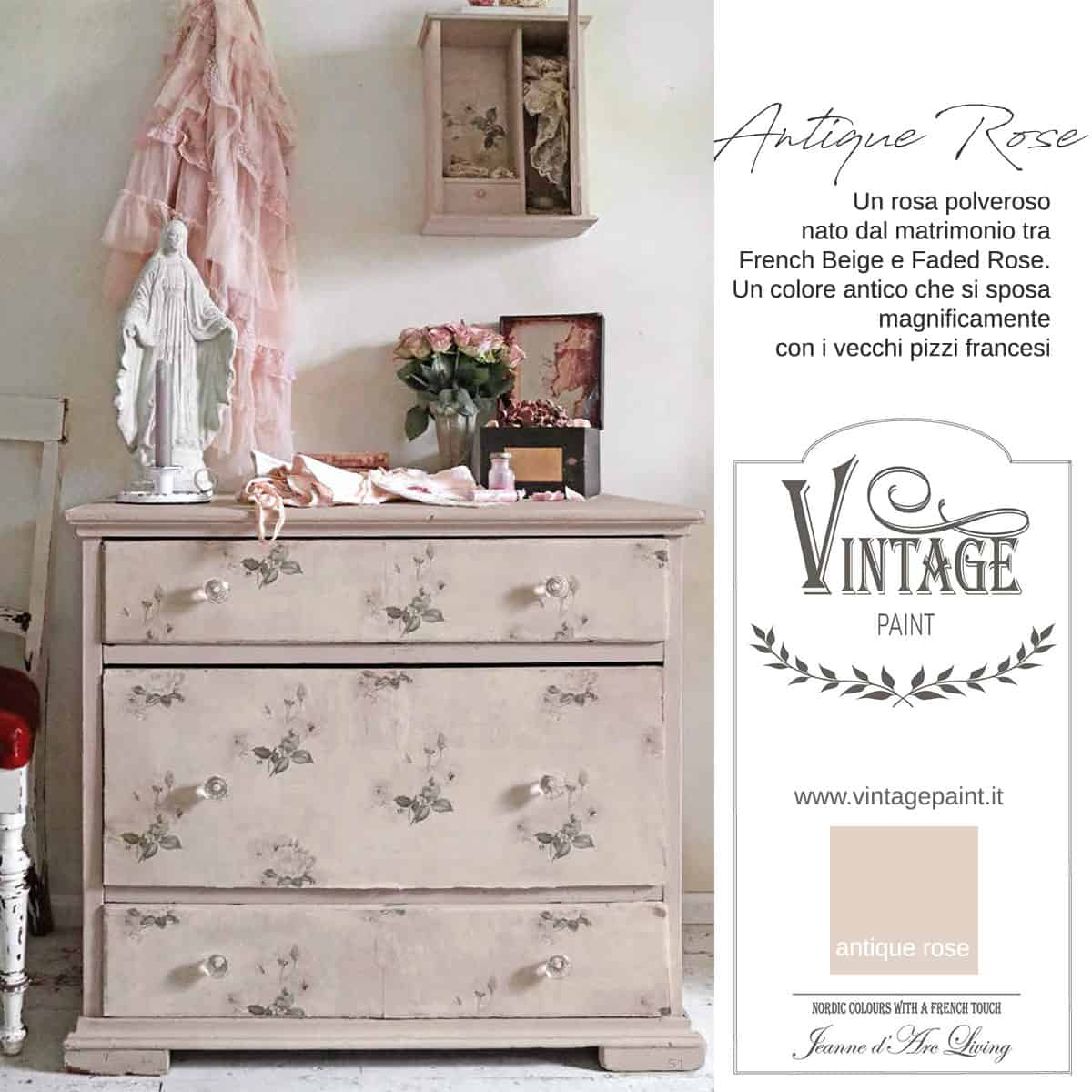 Antique Rose Vernice Vintage Chalk Paint Vintagepaint