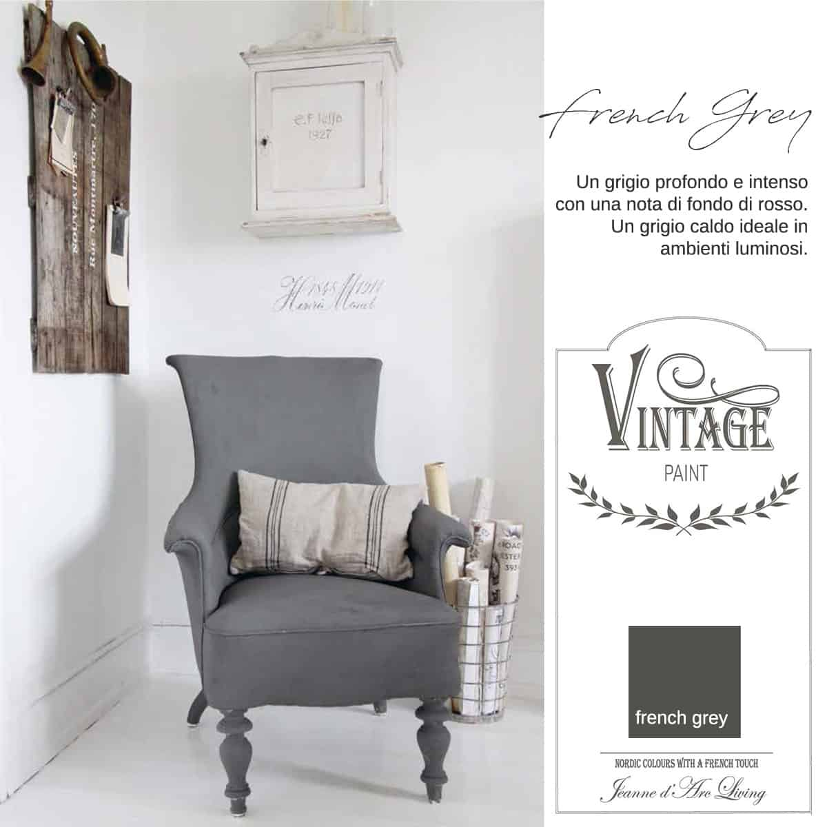 French Grey Vernice Vintage Chalk Paint Vintagepaint