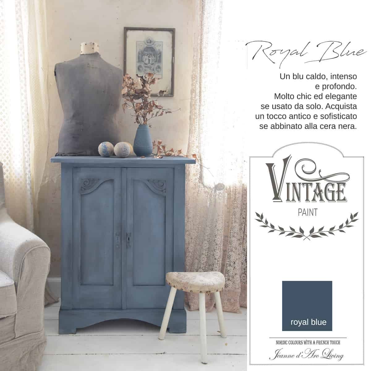 Royal Blue Vernice Vintage Chalk Paint Vintagepaint