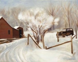 """Winter Farm Scene (10"""" x 12.5"""") http://goo.gl/m6uwMZ All canvas prints are in limited editions and are signed by me. Copyright (C) reserved."""