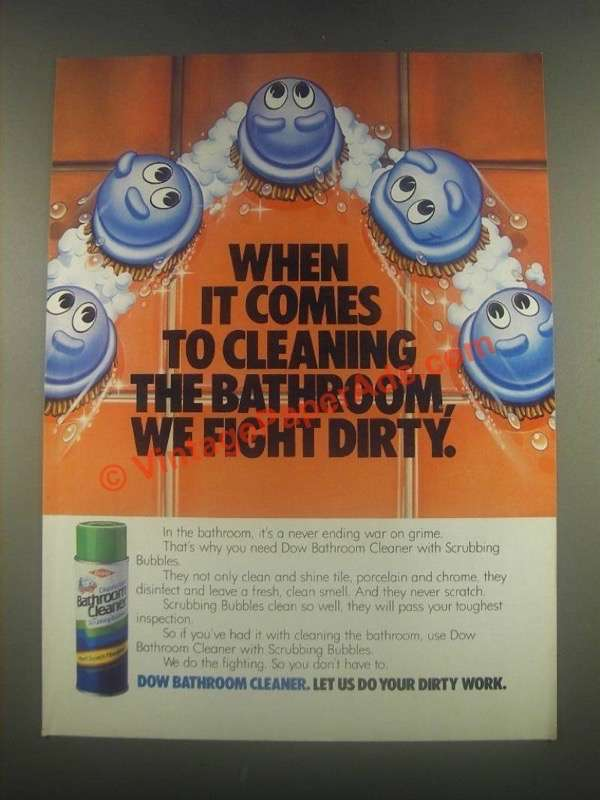 1971 Dow Oven Cleaner Ad  Todays Fowl Like Fish