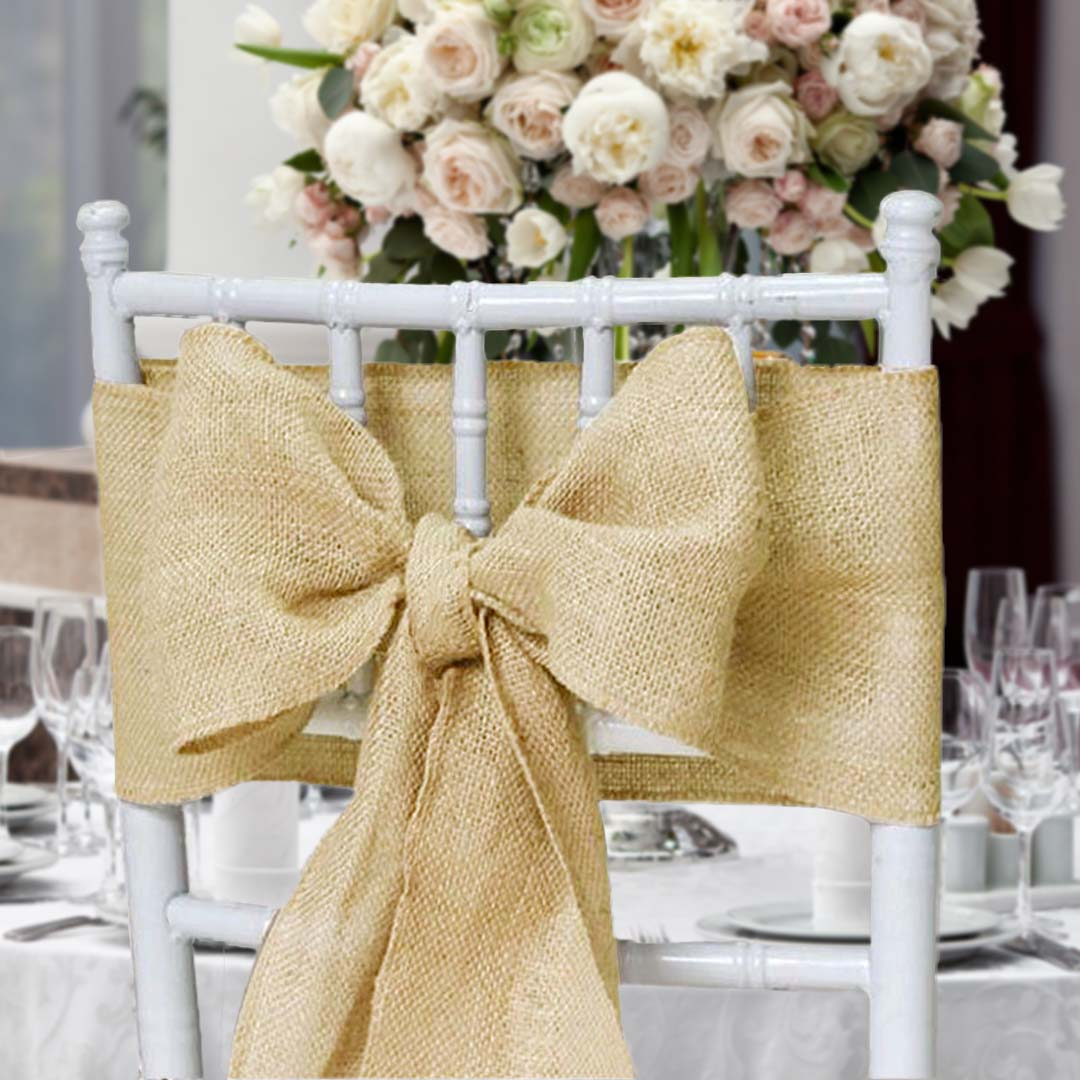 wedding chair cover hire kings lynn shower chairs for elderly covers tablecloths bunting vintage partyware hessian sash bow white table linen norfolk