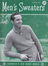 mens mans knitting patterns sweaters cardigan vintage knitting