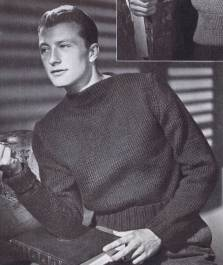 vintage pullover knitting pattern mens 1940s