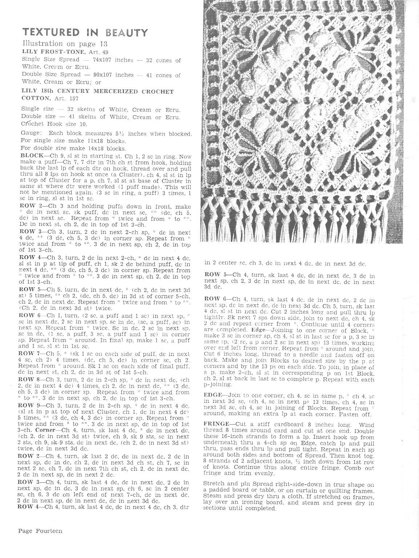 Beautiful Free Vintage Crochet Motif Patterns