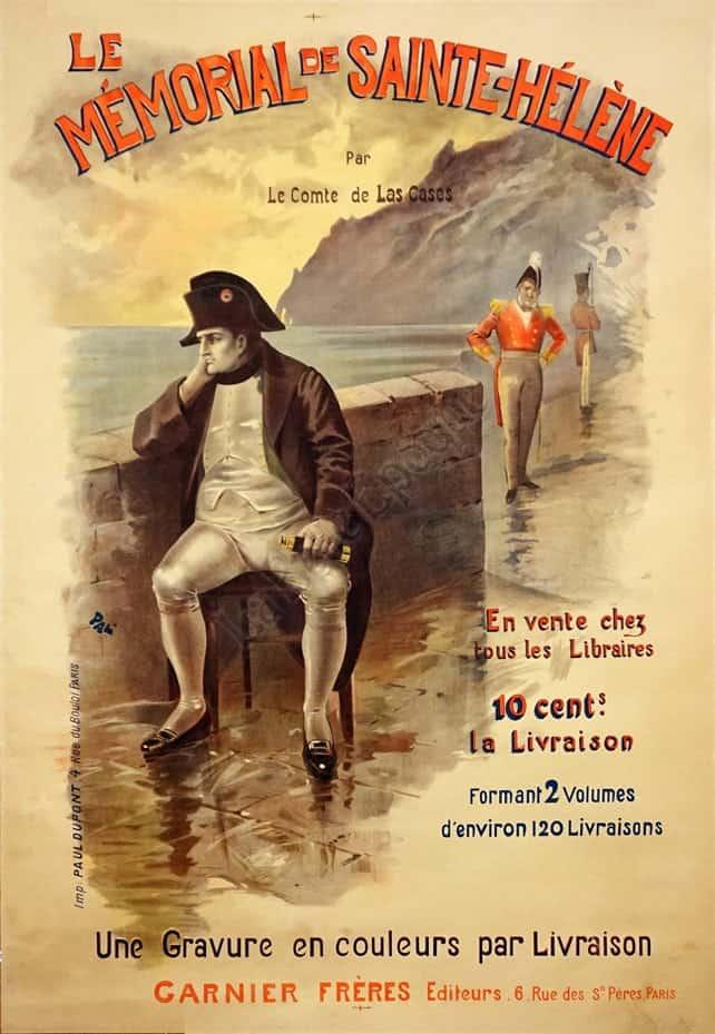 Le Mémorial De Sainte-hélène : mémorial, sainte-hélène, French, Literary, Vintage, Poster, Memorial, Sainte-Helene, (Napolean)', Posters, Belle, Epoque