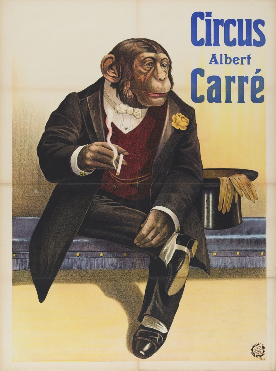 Smoking Chimpanzee Circus Albert Carre