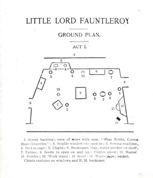 Printed Matter – Diagram – Little Lord Fauntleroy, stage
