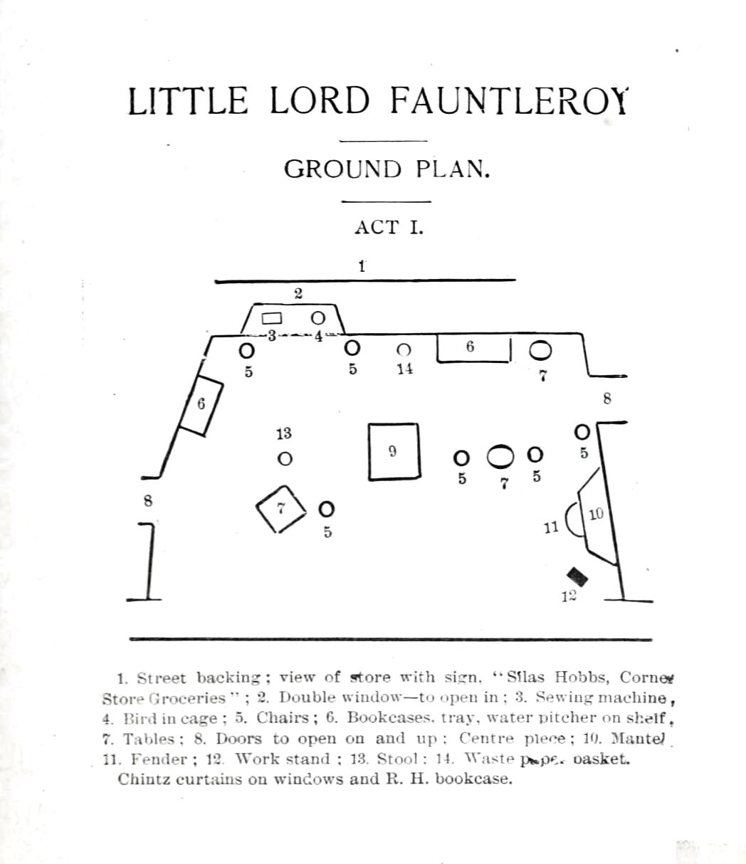 Printed Matter Diagram Little Lord Fauntleroy Stage