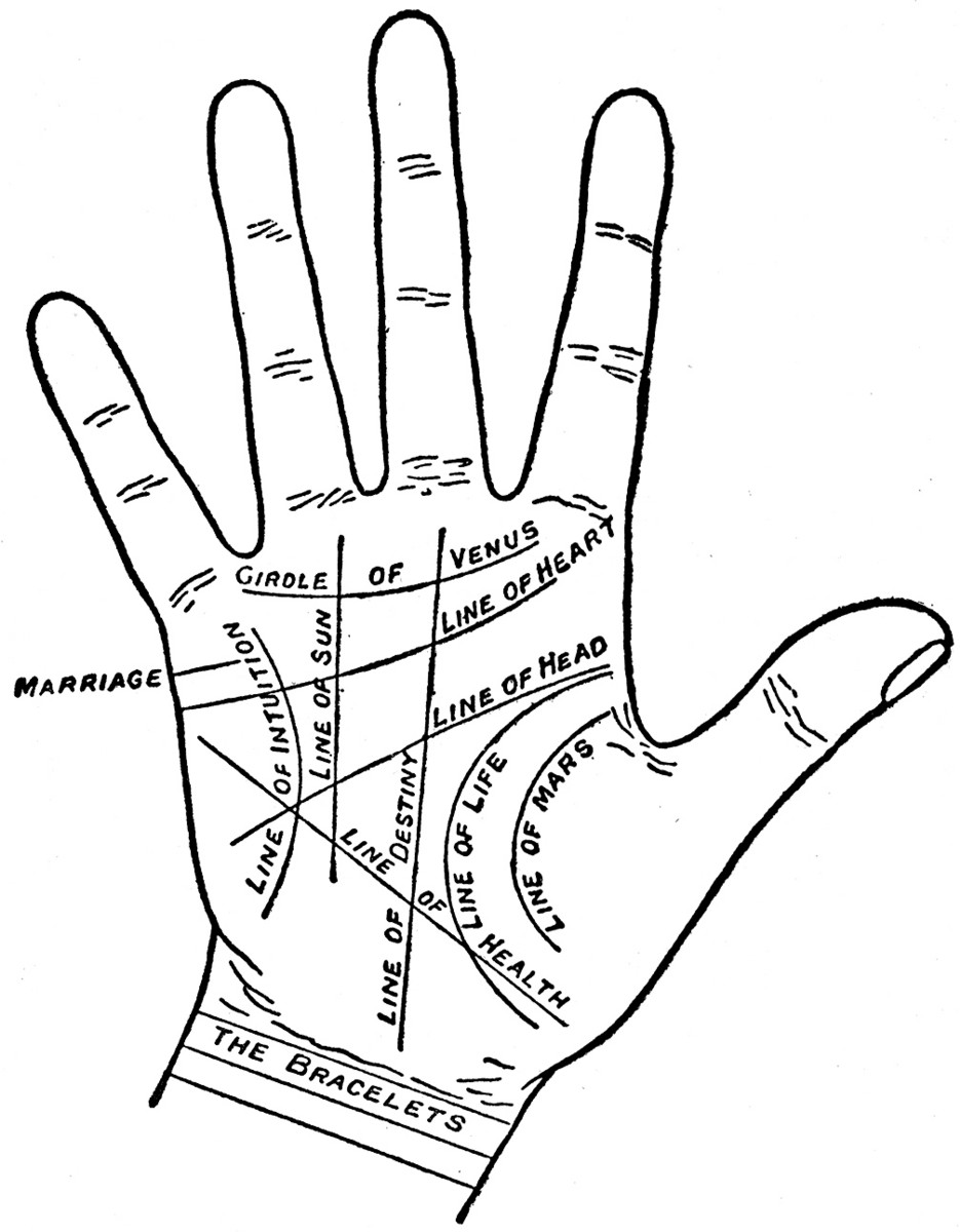 Entertainment – Palmistry map