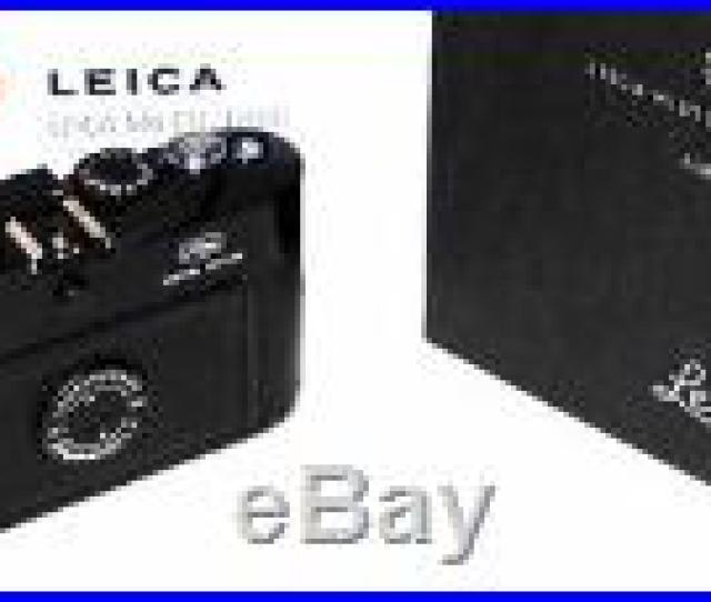 Leica M 72 Mag Black Paint Lhsa Special Edition Camera Cat 10443 Mint