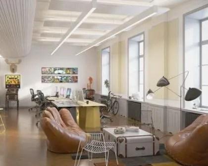 Remodelações de escritórios com sala de espera.