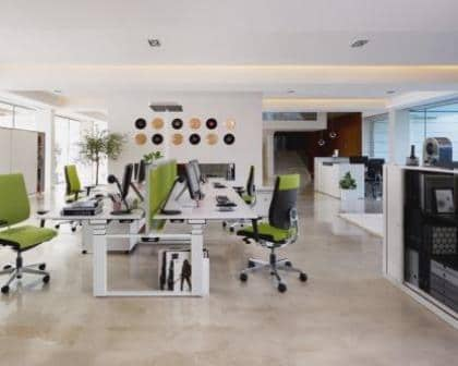 Remodelações de escritórios open space.