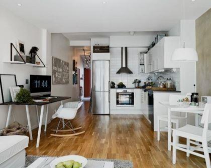 Remodelações de interiores de apartamentos pequenos.