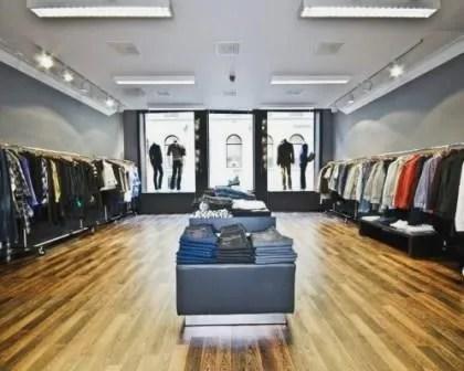 Remodelações de lojas de roupa.
