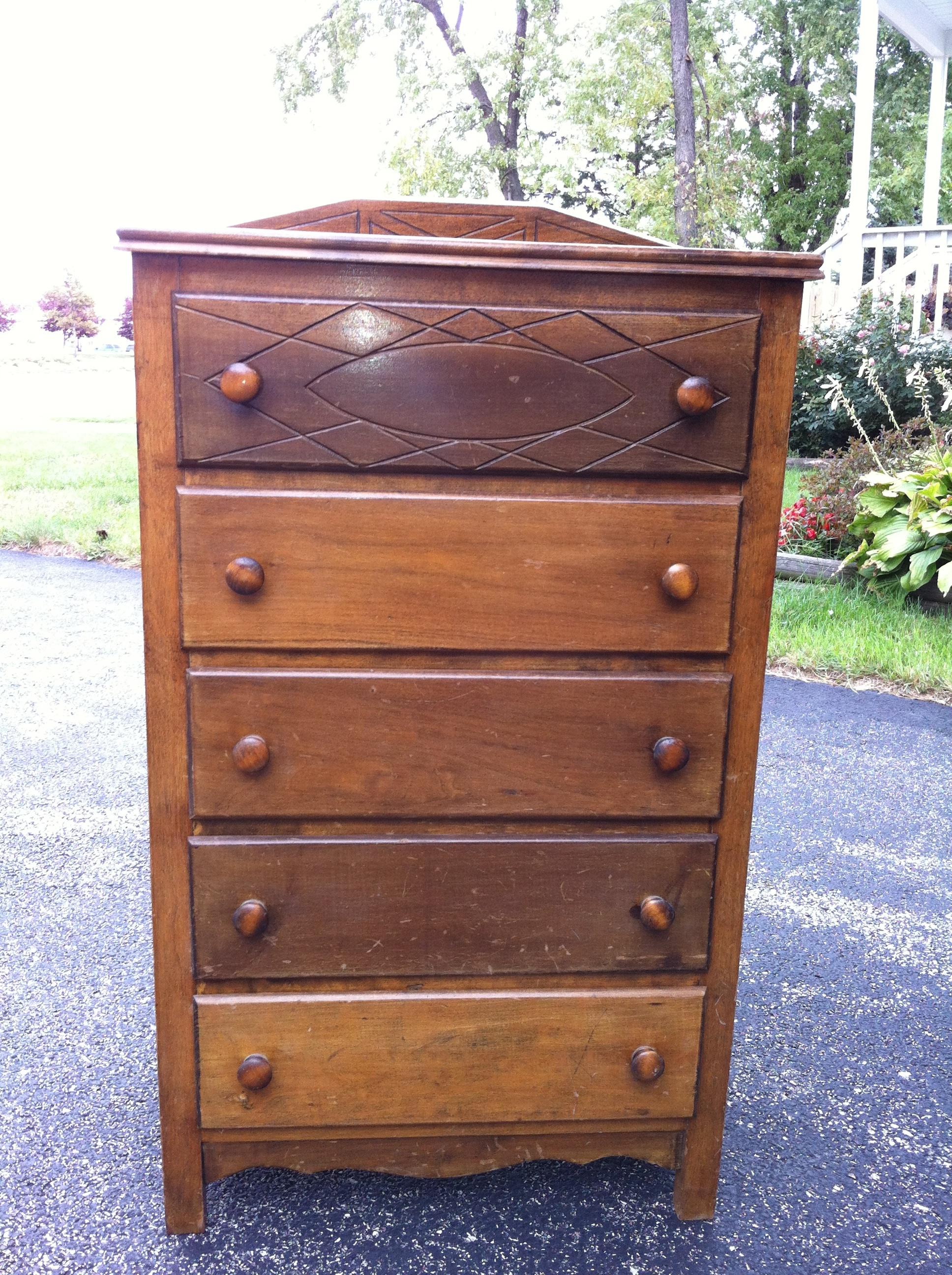 vintage baby dresser part 2  vintagerestoration