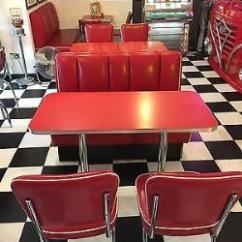 Retro Cafe Dining Chairs Large Chair Bed Diner Furniture American Vintage 50s Style Home Bar Kitchen