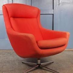 Mid Century Egg Chair Dish Ikea Vintage 1960s 70s Swivel Parker Knoll G Plan Danish Retro