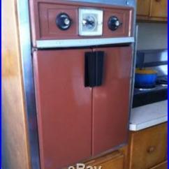Frigidaire Kitchen Appliances Swinging Doors Residential Mid Century Modern French Door Wall Oven Vintage Retro ...