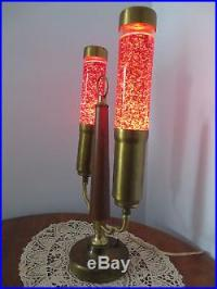 Vintage Florence Art Co. Glitter Motion Table Lamp Mid ...