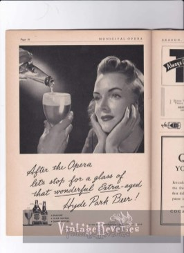 WWII Hyde Park Beer St Louis Ad
