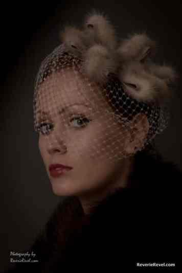 Fur veiled 1930s hat portrait