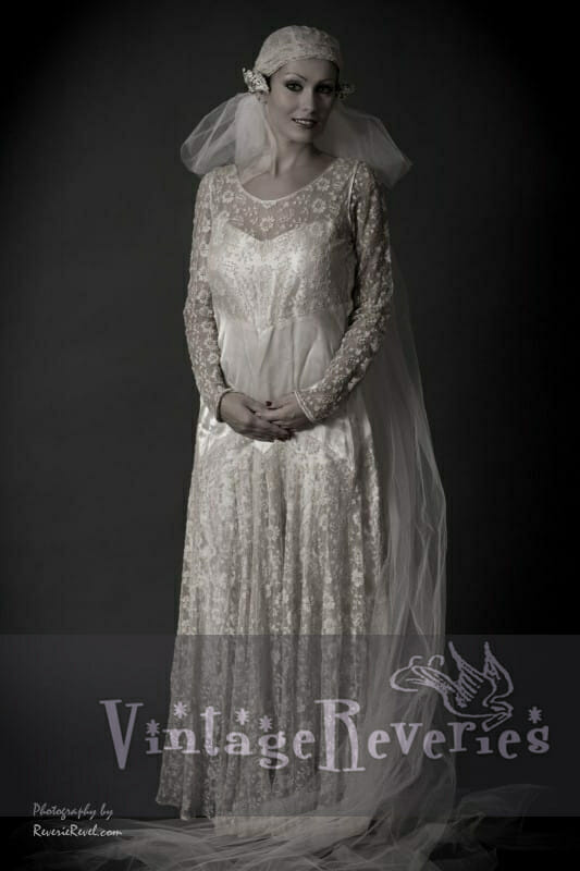 1920s Wedding Dress and Veil Modern Portraits