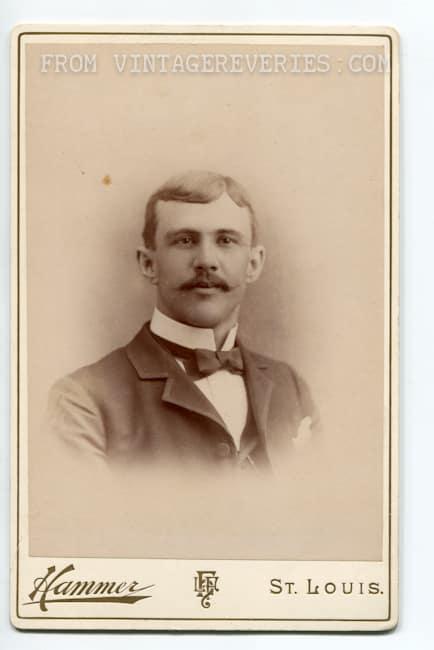 victorian man headshot bowtie