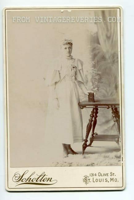 Young woman portrait 1800s