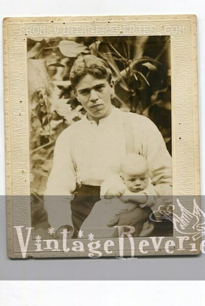 1914 baby photo with dad