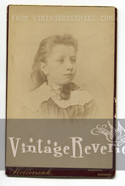 young girl 1880s