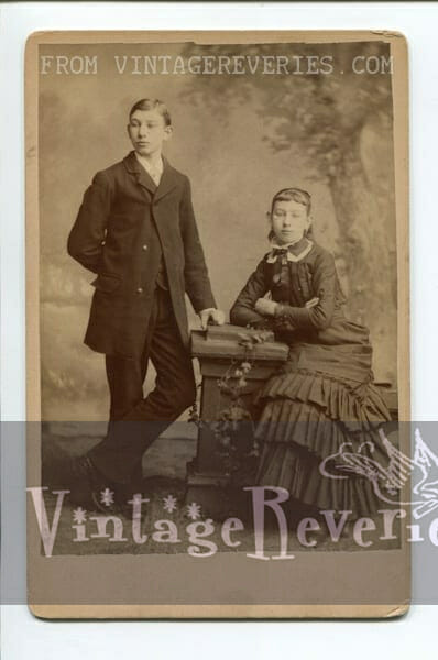 brother and sister 1880s