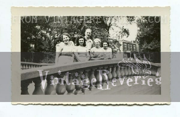 people on a bridge 1942