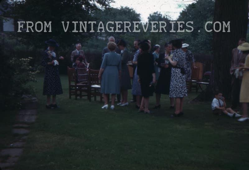 1940s wedding reception