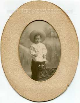 little boy oval photo