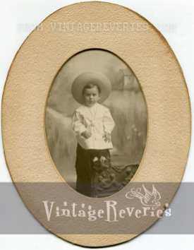 little boy oval photo