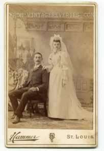 turn of the century wedding photo