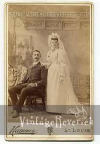 turn of the century wedding photo