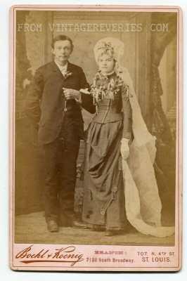 Black wedding dress turn of the century