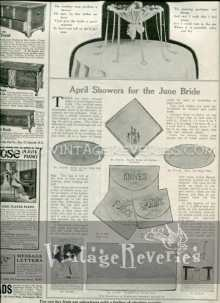 April Showers for the June Bride - 1917 Edwardian Era Bridal Gifts