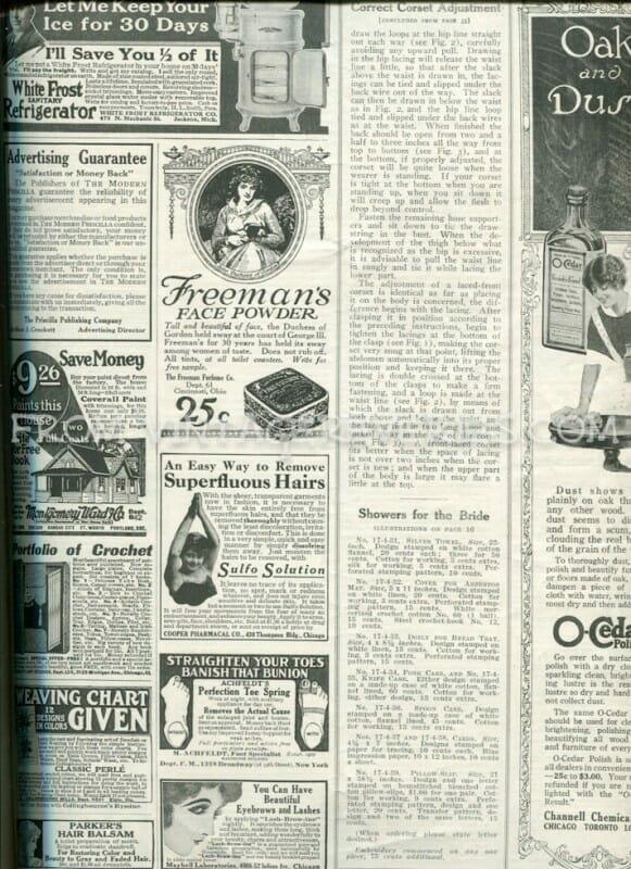 old fashion magazine ads