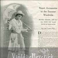 Tatting and Embroidery Patterns from The Modern Priscilla - July 1917