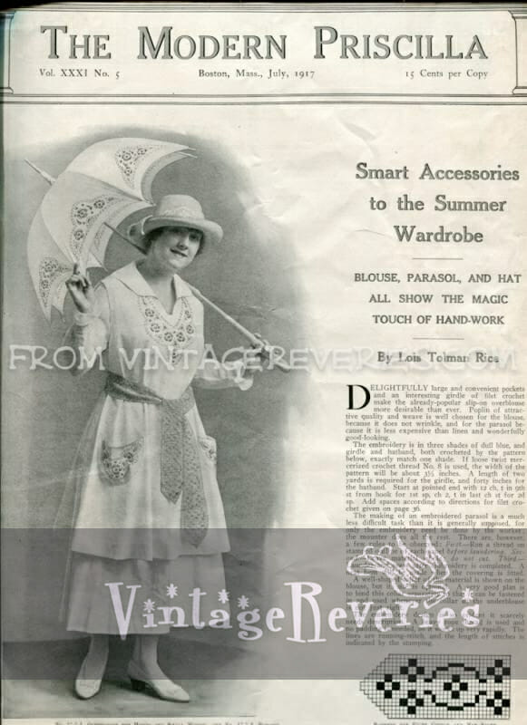Tatting and Embroidery Patterns from The Modern Priscilla – July 1917