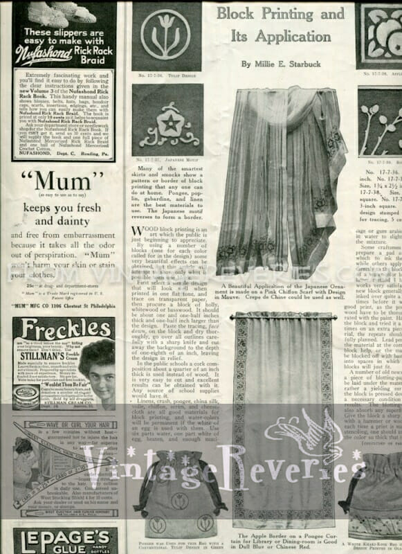 The Modern Priscilla Home Needlework and Everyday HouseKeeping - July 1917 - World War I womens magazine