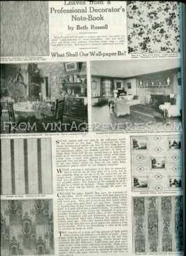 1917 wall paper patterns