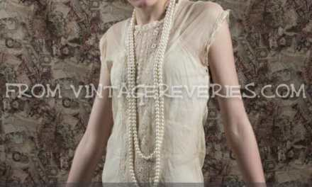 1920s Embroidered and Tatted Lace Frock Dress