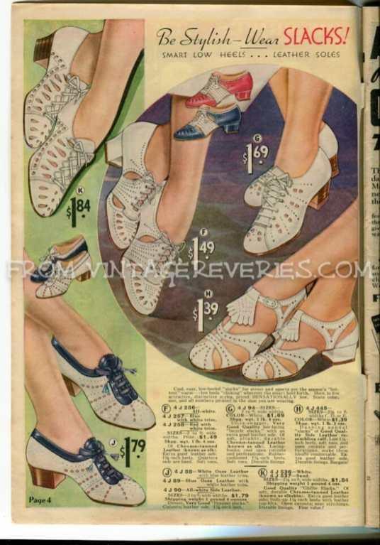 1930s summer shoe fashions