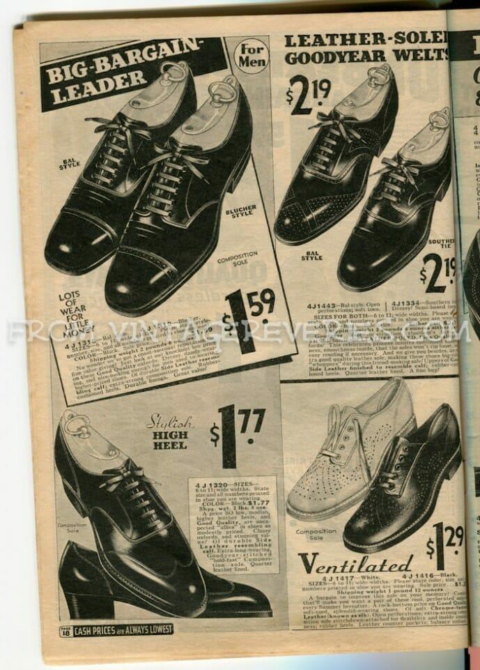 1930s mens dress shoe styles