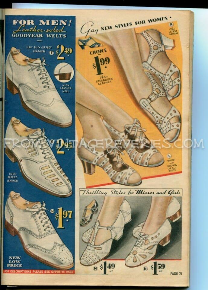 1930s womens shoe styles